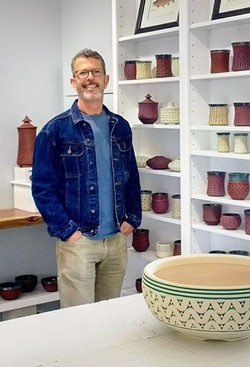 REPURPOSED Artist Kenny Standhardt and his husband remodeled the stand-alone garage of their newly purchased San Luis Obispo home into an art studio for Standhardt to make his ceramics in. - PHOTO COURTESY OF KENNY STANDHARDT