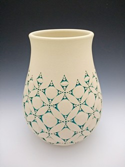 DETAILS The designs on each of Kenny Standhardt's pieces, like Floral Vessel, are done by hand, meaning no two are exactly the same. - PHOTO COURTESY OF KENNY STANDHARDT