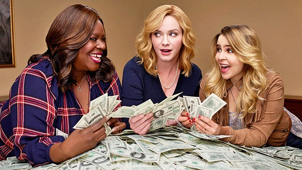 FEMALE REVOLT The three female leads of Good Girls, Ruby (Retta),  Beth (Christina Hendricks), and Annie (Mae Whitman), have had it with struggling to make ends meet and are doing something about it. - PHOTO COURTESY OF VARIETY