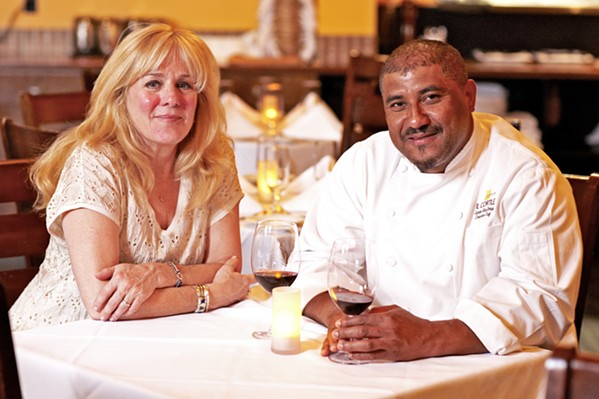 PARK IT Chef/owner Santos MacDonal (right) of Il Cortile Ristorante and La Cosecha Bar + Restaurant in Paso Robles has taken the wheel of a state-of-the-art food truck. Now, with wife and business partner, Carole (left) at his side, the couple is ready to bring a new kind of mobile fare to the masses. - PHOTO COURTESY OF CAROLE MACDONAL