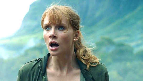 PAWN? Claire Dearing (Bryce Dallas Howard) is hired to mount a rescue mission to save dinosaurs on a volcanic island, but what's driving the rescue mission? - PHOTO COURTESY OF AMBLIN ENTERTAINMENT