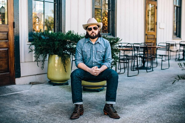 BOOMING VOICE Twang N Bang is bringing North Carolina's badass country singer Caleb Caudle and band to Sweet Springs Saloon on July 10. - PHOTO COURTESY OF CALEB CAUDLE