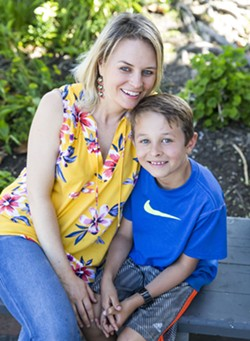 MOTHER AND SON WRITING TEAM Rebecca Velasquez is a social worker and yoga and meditation teacher. She, along with her son Wesley, recently wrote the children's book Sol Finds Love: A Sacred Love Story for Children. - PHOTO BY JAYSON MELLOM