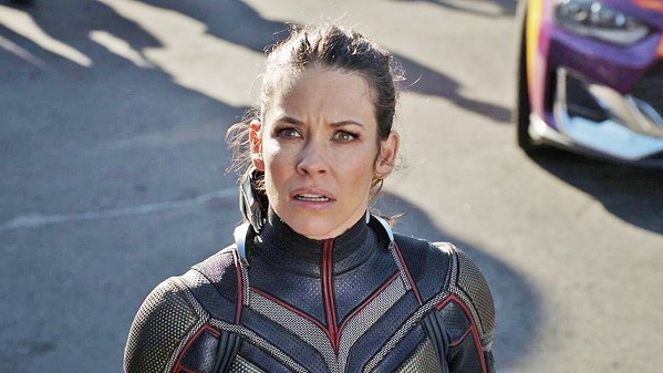 WONDER WASP The Wasp (Evangeline Lilly) brings the brains to the Ant-Man/Wasp duo. - PHOTO COURTESY OF MARVEL AND WALT DISNEY STUDIOS