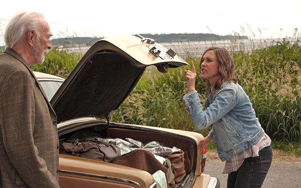 FAMILY Laura (Vera Farmiga) ends up driving her estranged, pot dealing dad (Christopher Plummer) along the California coast after he's kicked out of his retirement home in Boundaries. - PHOTO COURTESY OF SONY PICTURES CLASSICS