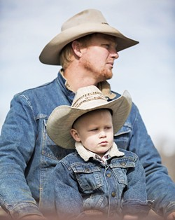 THE BEEF CLUB Daniel Willem and his young son take part in ranching activities in Paso Robles, where DD Cattle Company is melding the worlds of beef and wine in new, super savory ways. - PHOTO COURTESY OF SHELBY MCCLAIN