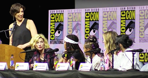 GIRL POWER  Jodie Whittaker (far left), talks feminism in media, with Camila Mendes, Chloe Bennet, Amandla Stenberg, and Regina King, on the Women Who Kick Ass panel at San Diego Comic-Con. - PHOTO COURTESY OF WE LIVE ENTERTAINMENT