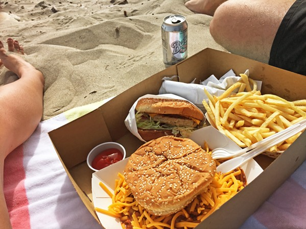 BURGERS BY THE WATER The fact that Jalama Beach is known for its burgers is just another reason to visit the county park. - PHOTO BY KAREN GARCIA
