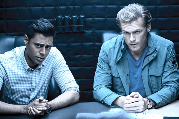GOOD GUY, BAD GUY? CIA agent Duffer (Hasan Minhaj) and MI6 agent Sebastian (Sam Heughan) are supposed to be collaborating, but are they? - PHOTO COURTESY OF LIONSGATE