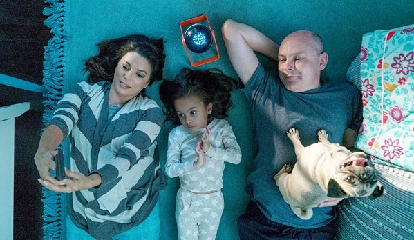 WOOF Eva Longoria, Elizabeth Phoenix Caro, and Rob Corddry (left to right) are part of an ensemble cast brought together by dogs, in Dog Days. - PHOTO COURTESY OF LD ENTERTAINMENT