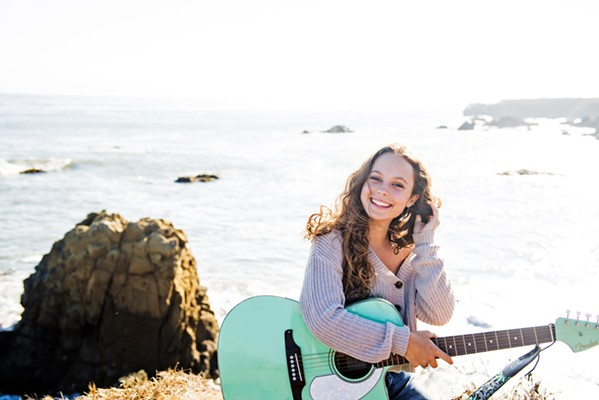RISE New Times Music Awards winner Amalia Fleming, who's just 16 years old but bursting with talent, plays SLO Brew Rock on Aug. 25. - PHOTO COURTESY OF VANESSA PLAKIAS