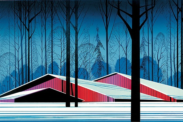 MORE THAN WINDMILLS Solvang is home to some really amazing art museums, including the Elverhoj Museum of History and Art, which has featured renowned artists such as Eyvind Earle. - IMAGE BY EYVIND EARLE/COURTESY OF THE ELVERHOJ MUSEUM