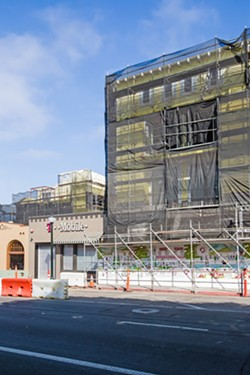 DOWNTOWN TERRACE The four-story, 64-room hotel, restaurant, retail, and residential space on Garden and Marsh streets in downtown San Luis Obispo was approved in 2014, started construction in 2015, and is nearing completion. - PHOTO BY JAYSON MELLOM