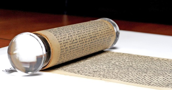 THE SACRED SCROLL Jack Kerouac's 120-foot-long typed manuscript of On the Road will be on display in the SLO Library for two months, beginning on Sept. 21. - PHOTO COURTESY OF JIM IRSAY