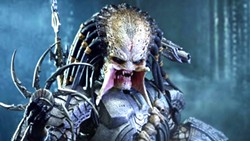 HANDSOME ON HIS PLANET? An alien hunter (Brian A. Prince) comes to Earth to harvest human trophies, in The Predator. - PHOTO COURTESY OF TWENTIETH CENTURY FOX