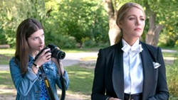 WHODUNIT? Mommy blogger Stephanie (Anna Kendrick, left) seeks answers about her new friend Emily's (Blake Lively, right) sudden disappearance, in A Simple Favor. - PHOTO COURTESY OF BRON STUDIOS