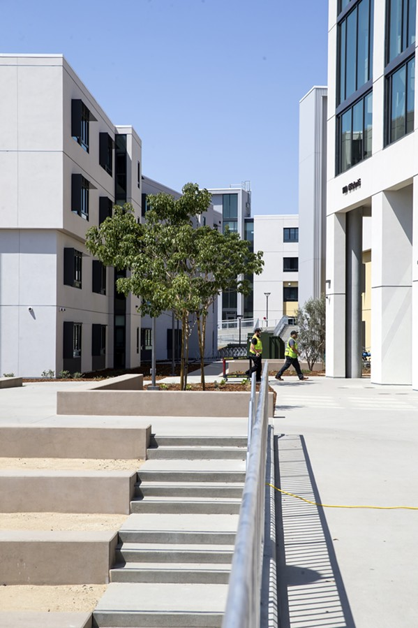 LIVING CULTURE Each building in the new residential community at Cal Poly is named after a local place and features cultural murals and elements of the yak titu titu yak tihini tribe. - PHOTO BY JAYSON MELLOM