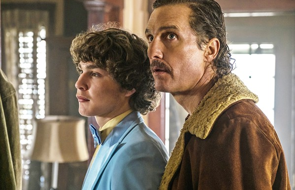 AMBITION Rick Wershe Sr. (Matthew McConaughey) and Jr. (Richie Merrit) helm White Boy Rick, the story of a teenager who becomes an FBI informant in exchange for keeping his father out of prison. - PHOTOS COURTESY OF SONY PICTURES