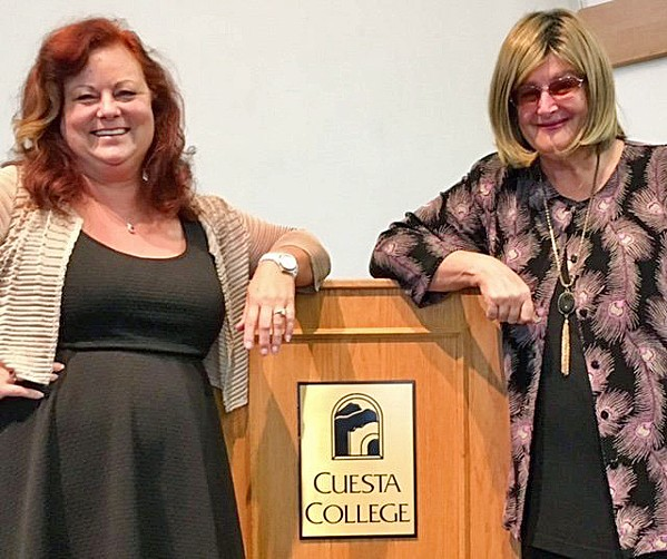 BUILDING WRITERS UP Teri Bayus (left), author of Consumed: An Erotic Culinary Adventure, has led the Central Coast Writers Conference as its director since 2015. - PHOTO COURTESY OF TERI BAYUS