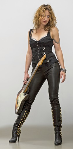 SHREDDER LA guitar goddess Ana Popovic plays The Siren on Oct. 4. - PHOTO COURTESY OF ANA POPOVIC