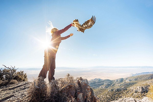 WILD AND SCENIC A researcher releases a golden eagle in the short film Sky Migrations, one of 30 films screening at The Wild and Scenic Film Festival, Sept. 27 to 29, in various locations. - PHOTO COURTESY OF CHARLES POST
