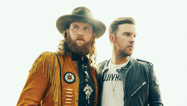 NEW PRINCES OF NASHVILLE Osborne Brothers, hot on the heels of their sophomore effort Port Saint Joe, play Vina Robles Amphitheatre on Oct. 7. - PHOTO COURTESY OF BROTHERS OSBORNE
