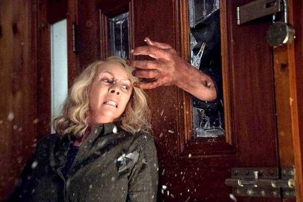 FORTY YEARS LATER Jamie Lee Curtis reprises her role as Laurie Strode, who 40 years ago escaped masked killer Michael Myers. When he returns in Halloween (2018), she's ready for him. - PHOTO COURTESY OF MIRAMAX