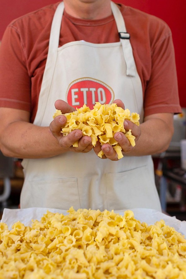 STRAIN AND SAVOR Tin City's own pasta factory, Etto, opened about six months ago with the humble dream of bringing simple, fresh, Italian-style pasta to Paso Robles. Since then, the operation has grown and sells handmade pasta to local restaurants and handing off bags of the fresh stuff to locals, tourists, and wine tasters alike. - PHOTO COURTESY OF LEILA SAPPA
