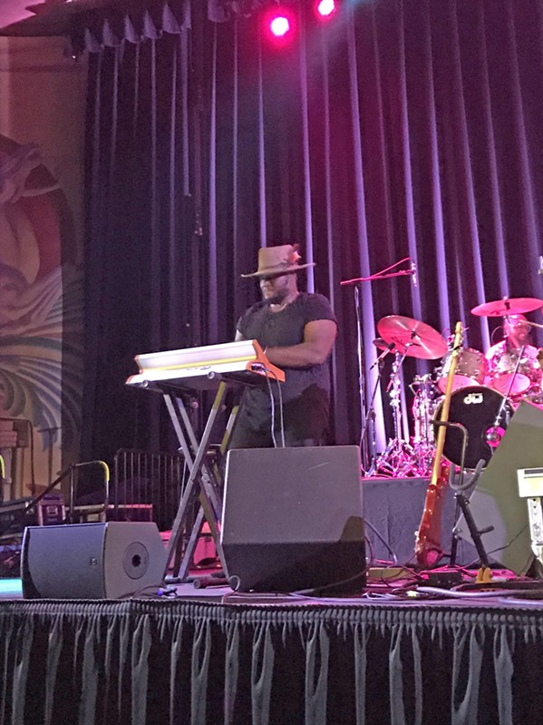 LIFE OF THE PARTY Keyboard player and composer Brandon Coleman helped get the crowd pumped opening for Kamasi Washington. He played his original jazz/soul/funk tracks with infectious zest and zeal. - PHOTO BY PETER JOHNSON