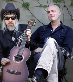 THE GREATEST SHOW ON EARTH! The Mighty King of Love Phil Lee (left) and famed East Nashville musician and Red Beet Records founder Eric Brace play Oct. 25, at 7Sisters Brewing Co. - PHOTO COURTESY OF PHIL LEE AND ERIC BRACE