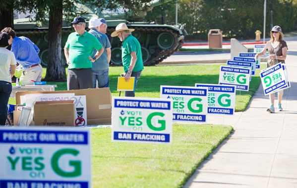 FINAL STRETCH The campaigns on both sides of Measure G, the initiative to ban new oil and gas wells in SLO County, clashed over campaign mailers as Election Day loomed. - FILE PHOTO BY JAYSON MELLOM