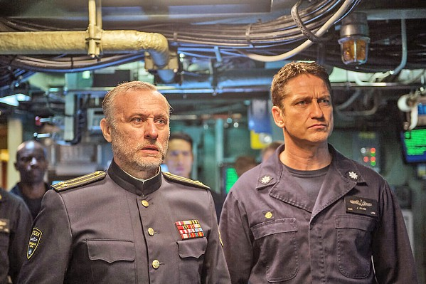 MURKY WATERS Gerard Butler plays Capt. Joe Glass, a Navy SEAL manning his submarine crew to save the U.S. from starting an international war, in Hunter Killer. - PHOTO COURTESY OF SUMMIT ENTERTAINMENT