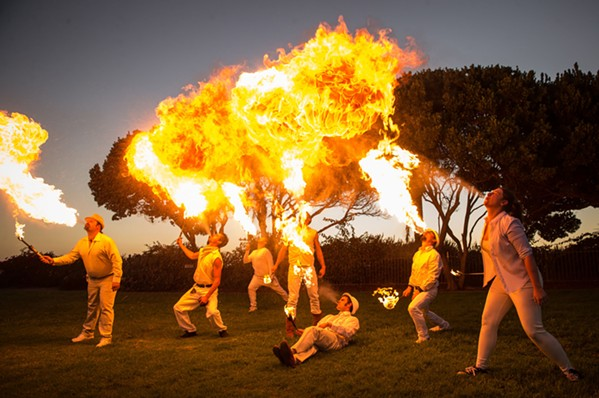 IGNITED The Ignite Fire Dance troupe performs fire artistry at weddings, birthday parties, special events, and festivals on the Central Coast and beyond. - PHOTO BY JAYSON MELLOM