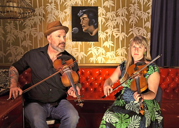 OLD-TIMEY MUSIC David Bragger and Susan Platz are one of four acts playing the Pozo Old Time Music Gathering on Nov. 10 and 11, which also invites musicians to come jam and is free to the public, though there is a $25 fiddle workshop if interested. - PHOTO COURTESY OF DAVID BRAGGER AND SUSAN PLATZ