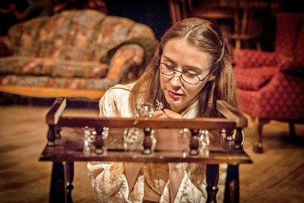 A UNICORN Crippled and shy, Laura (Madison Shaheen) spends much of her time at home playing with her collection of glass animals. - PHOTO COURTESY OF SLO REPERTORY THEATRE