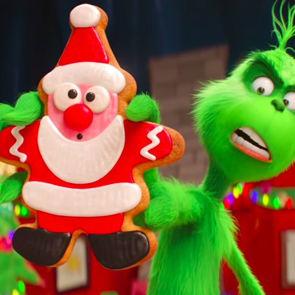 BITE ME, CHRISTMAS! The grumpy green cynic (voiced by Benedict Cumberbatch) returns to ruin Whoville's Christmas, in The Grinch. - PHOTO COURTESY OF UNIVERSAL PICTURES