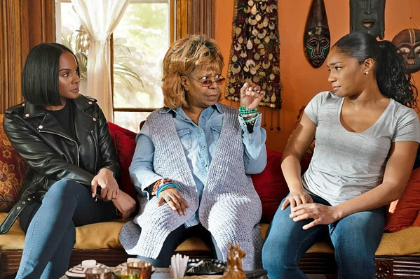 FAMILY Matriarch Lola (Whoopi Goldberg, center) must deal with her daughters after Tanya (Tiffany Haddish, right) is released from prison and butts heads with Danica (Tika Sumpter, left), in Nobody's Fool. - PHOTO COURTESY OF TYLER PERRY STUDIOS