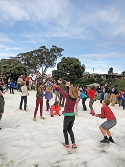 FROST ON THE COAST Winterfest includes a snow day for families to come in and make snowballs, snowmen, and experience the magic of iced powder. - PHOTO COURTESY OF TERI BAYUS