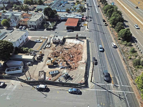 STARTING FROM SCRATCH Pismo Beach Planning Commissioners revoked Compass Health's development permit for the Alex Bar-B-Q project after the iconic building was demolished in September. - PHOTO COURTESY OF PISMO BEACH CITY ATTORNEY DAVE FLEISHMAN