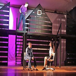 WHO'S CRAZY? Diana (Veronica Surber, right) is haunted by memories of the son she lost, Gabe (Elliot Peters, above), and tries to get better with the help of her therapist, Dr. Madden (Ritchie Berudez). - PHOTO COURTESY OF WINE COUNTRY THEATRE