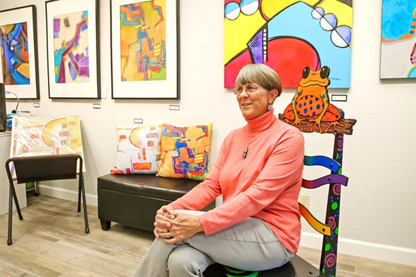 ARTIST IN RESIDENCE Paso Robles artist Laure Carlisle recently opened her own gallery space on Railroad Street. - PHOTO BY JAYSON MELLOM