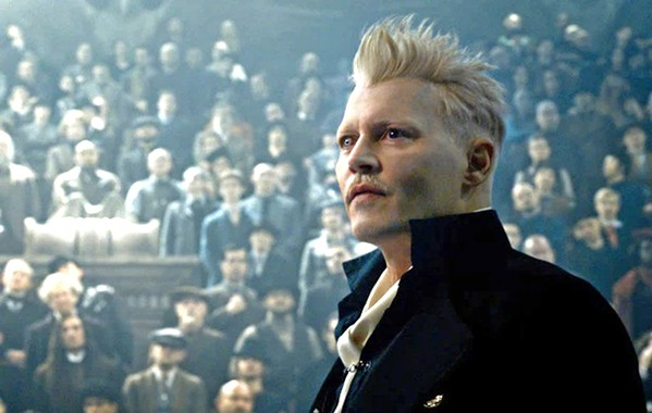 WIZARDS RULE Gellert Grindelwald (Johnny Depp) makes his case to the wizarding world that they, not humans, should run the world. - PHOTO COURTESY OF WARNER BROS.