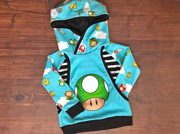 """""""Toad"""" hoodie from Little Quills Clothing. - PHOTO COURTESY OF LITTLE QUILLS CLOTHING"""