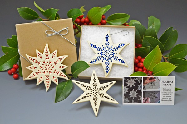 SHINE BRIGHT, SHINE FAR Every year around the holidays, Kenny Standhardt releases a line of special star ornaments just in time for the gift giving season. - PHOTO COURTESY OF STANDHARDT STUDIO