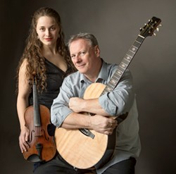 EMERALD ISLE The Painted Sky Concert Series presents an evening of stellar Celtic guitar and violin with Tony McManus and Julia Toaspern on Dec. 16. - PHOTO COURTESY OF TONY MCMANUS AND JULIA TOASPERN