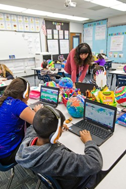 HOOKED UP After years of struggling with poor internet, Shandon Elementary School (pictured) and High School recently connected to a fiber optic line upon the completion a rural broadband extension project. - PHOTOS BY JAYSON MELLOM