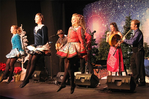 GET YOUR IRISH UP! The 13th annual Winterdance Celtic Christmas Celebration featuring Molly's Revenge, guest vocalist Amelia Hogan, and the Turco Irish Dancers performs on Dec. 22, in Los Osos' South Bay Community Center. - PHOTO COURTESY OF THE WINTERDANCE CELTIC CHRISTMAS CELEBRATION