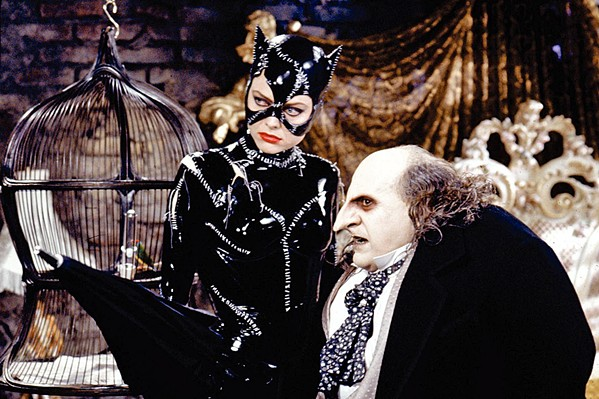 GO BATTY Catwoman (Michelle Pfeiffer) and the Penguin (Danny DeVito) form a deadly alliance in Tim Burton's Batman Returns. - PHOTO COURTESY OF WARNER BROS.