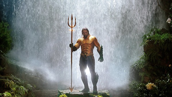 MAKING A SPLASH Jason Momoa plays a man with a destiny to rule the water world, with a soft spot for his native human land, in Aquaman. - PHOTOS COURTESY OF WARNER BROS. ENTERTAINMENT INC.