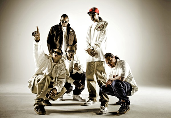 STRIGHT OUTTA CLEVELAND Fast rapping and harmony-rich hip-hop act Bone Thugs-N-Harmony plays the Fremont Theater on Jan. 11. - PHOTO COURTESY OF BONE THUGS-N-HARMONY